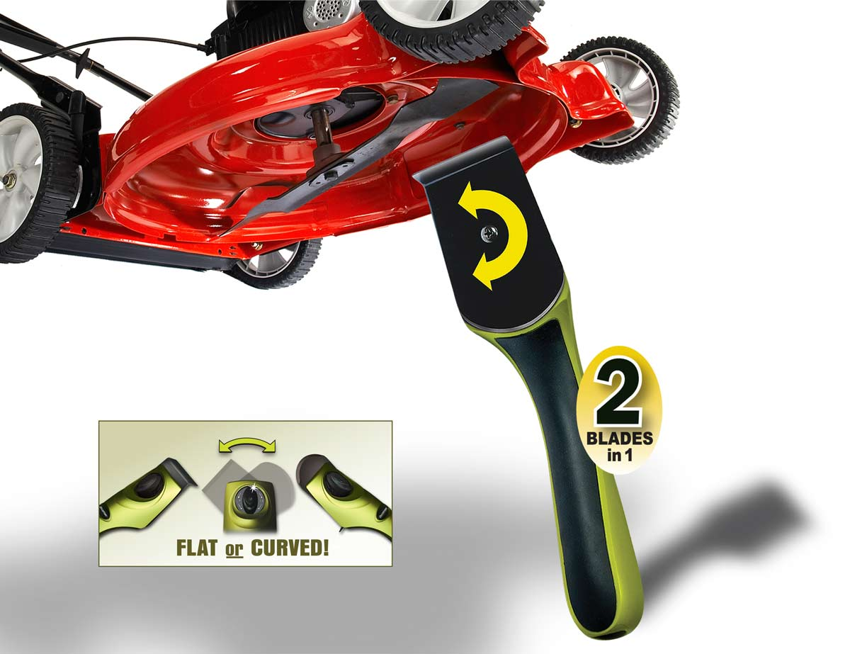 Dual-Bladed Mower Scraper